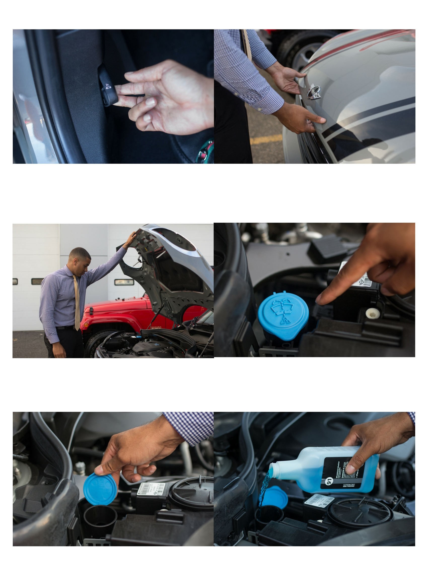 Car Windshield Wiper Washer Fluid Reservoir Cap Windshield Replacement Cover
